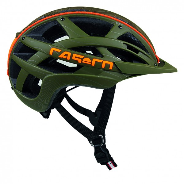 CASCO CUDA MOUNTAIN OLIVE-ORANGE-helma vel.M
