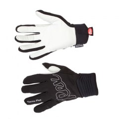 REX RACING THERMO PLUS, black/white, teplé rukavice na běžky